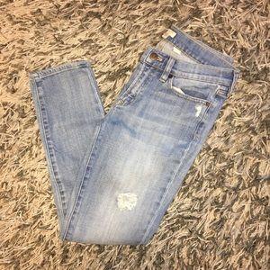 J. Crew distressed skinny jeans